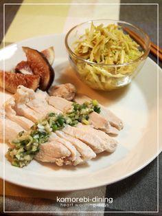 蒸し鶏の葱たれ☆きゃべつのエスニックサラダ by こもれびさん ...
