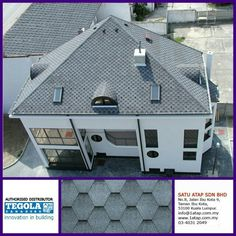 Tegola Premium mosaic with pattern in hexagonal shape. 100% from Italy.  How complexity your design, tegola shingle roofing always give 3 benefits -enhance beauty -zero leaking with warranty -increase property value  Tegola the only fashionable roof for life.  www.1atap.com.my/tegola