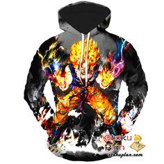 DBZ Goku Flaming Super Saiyan Black Hoodie - Dragon Ball Z 3D Hoodies And Clothing  #animeart #animeboy #stuff #animelover #anime #comic #merchandise