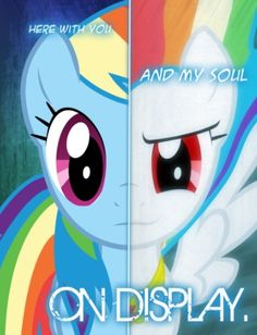 Two sides of rainbow dash