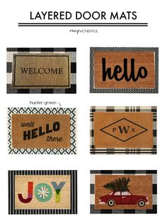 Apartment Door Entrance Welcome Mats 52 New Ideas