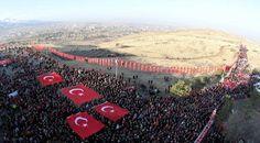 20 bin Erzurumlu, 139 yıl önceki gibi Aziziye Tabyaları'na yürüdü