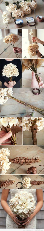 Tutorial paso a paso para hacer un ramo de novia DIY