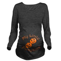 My little pumpkins twin halloween Maternity T-Shirt by MommyLoves