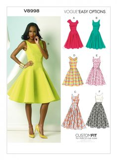 Vogue Patterns V8998 | Misses' Dress