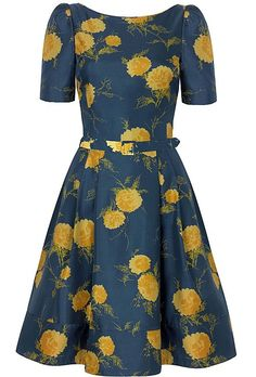 Suzannah '50s oriental bloom dress (£750)