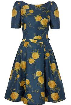 Suzannah '50s oriental bloom dress (£750)