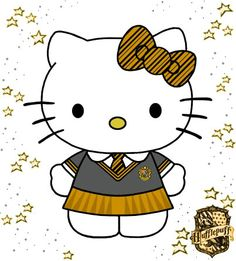 Hello Kitty HUFFLEPUFF!!!! <3 <3 <3 <3