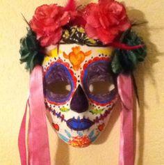 DIY Dia de los Muertos Day of the dead skull by darkbutterfly72, $15.00