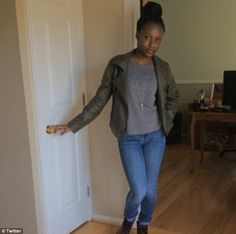 Trinity Carr (pictured), 16, could be tried as an adult forcriminally negligent homicide after hitting classmate 16-year-oldAmy Joyner-Francis in their high school's bathroom