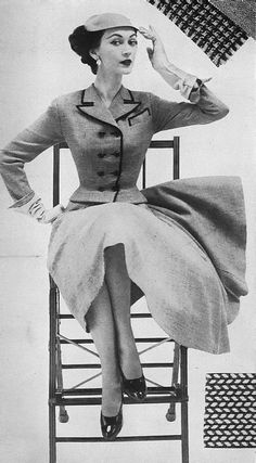 Dovima, January Harper's Bazaar 1952