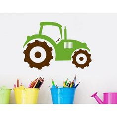 Farm Tractor Wall Decal  sc 1 st  Pinterest & Vinyl Wall Decal Vinyl Farm Wall Tree Decal | Trees Bumble bees and ...