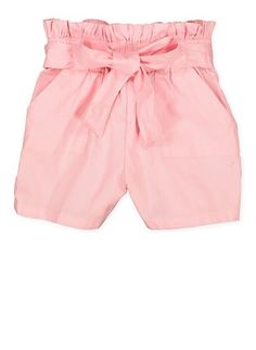 Girls 7-16 Paper Bag Waist Shorts | 1621038340095,BLUSH Toddler Size Chart, Rainbow Store, Girls 4, Workout Shorts, Plus Size Dresses, Shapewear, Elastic Waist, Bermuda Shorts, Casual Shorts