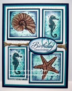 Seaside Birthday- Fun with Blendabilities  by Julie Gearinger - Cards and Paper Crafts at Splitcoaststampers