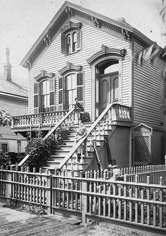 Repalcement for House Lost in the Chicago Fire. Built in 1873. Family saved furniture from orig house by burying it in the back yard. by Chicago History Museum, via Flickr