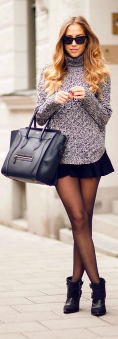 Chunky Grey Knit http://ShoppingDubLi.com