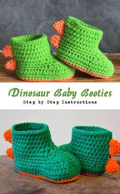 Dinosaur Baby Booties