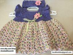 free shipping baby dress and headband for 0-1 por braidedtheworld