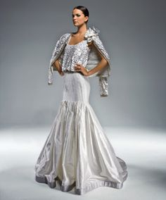 Silver sequin accents