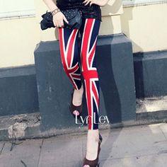 free shipping 2013 wholesale The milk silk Breathable thin British style  UK flag sexy fashion Leggings $6.99