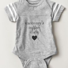 Take your little night owl on that necessary coffee run with you in this stylish gender neutral Mommy's little coffee date onesie. #babyclothes