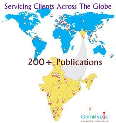 Multiple countries, multiple research areas, 200+ publications- One Genomics partner- Genotypic Technology http://www.genotypic.co.in/Whats-New/2/Publications.aspx