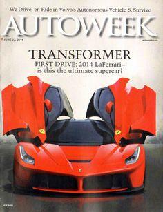 AUTOWEEK MAGAZINE JUNE 23 2014 TRANSFORMER 2014 LAFERRARI SELF DRIVING CAR INDY