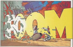 From Shimura in Judge Dredd Megazine by Robbie Morrison and Frank Quitely, set in future Japan in the world of Dredd. Quitely has done a few stories in the Meg, which is a monthly British. Comic Book Artists, Comic Artist, New Artists, Futuristic Samurai, Best Comic Books, Judge Dredd, Concept Art, Comics, Painting