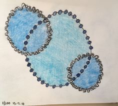 Day 1 - Circle Study in Blue