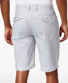 """Inc International Concepts Men's 11"""" Chambray Cotton Shorts, Only at Macy's - Black 33"""
