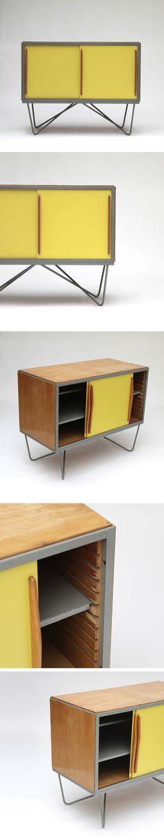 Willy van der Meeren . cabinet, for Tubax, 1950s