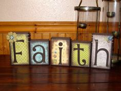 Family Blocks Wooden Block Set Boutique by KDragonflyDesigns