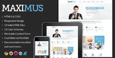 Maximus - Responsive Multi-Purpose Website Templat . Maximus has features such as High Resolution: No, Compatible Browsers: IE8, IE9, Firefox, Safari, Opera, Chrome, Columns: 4+