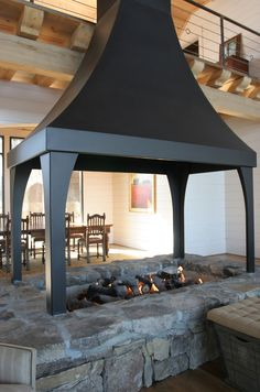 Indoor Fire Pit Hood Retro Fireplaces Pinterest