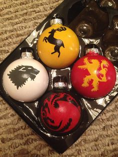 Game of Thrones Sigils and Mottos Set of 4 by KaleyCrafts on Etsy