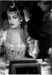 "Maria Callas in her dressing room for ""Ifigenia in Tauride"" by Gluck (1958)"