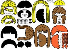 printable hair templates for paper dolls | PaperDoll TemplateBodyHairClothes (2) | Our Homeschool Journey