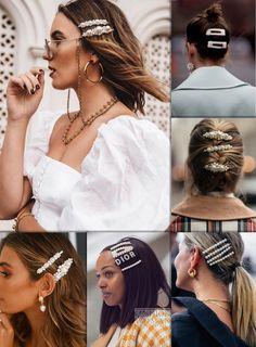 Заколки с жемчугом // Pearl Of The Storm Hair Pin – Hair – Hair is craft Bobby Pin Hairstyles, Headband Hairstyles, Pretty Hairstyles, Wedge Haircut, Hair Scarf Styles, Short Thin Hair, Modelos Fashion, Hair Accessories For Women, Hair Barrettes