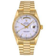 ROLEX Yellow Gold Day-Date President Wristwatch Ref 18238