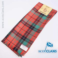 Pure wool scarf in Nicholson Ancient tartan, available from ScotClans