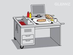 ¿Será que nos acepten cambiar los escritorios de la oficina por unos como este? #LOL
