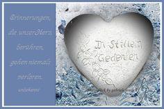 """JanuarKristall  Trauerkarte """"weißes Herz"""" von PHOTOGLÜCK auf DaWanda.com"""