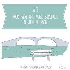 Les 10 bonnes raisons de visiter Chalon-sur-Saône : Pour faire une pause bucolique en bord de Saône