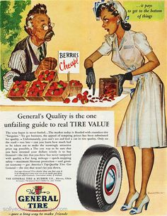 The General tire - Vintage Ads, Vintage Images, Vintage Prints, Vintage Posters, Old Advertisements, Print Advertising, General Tire, Pin Up, Ad Art