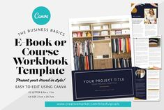 Workbook / E-book Template for Canva by Blissful Pixels Media Kit Template, Lead Magnet, Press Kit, Working On It, Web Browser, Website Template, Social Media, Lettering, Templates