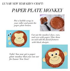 """Lunar New Year Kid's Craft"" by babyblau ❤ liked on Polyvore featuring women's clothing, women's fashion, women, female, woman, misses, juniors, art, Monkey and lunarnewyear"