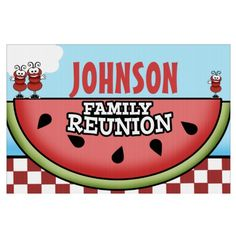 Watermelon Picnic Family Reunion Signs