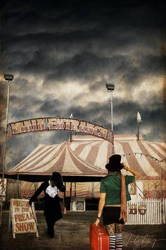 not the picture exactly but I like the idea of like a person joining the freak show/circus?