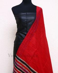 SH022-5 Jute silk top and dupatta. cotton silk bottom.