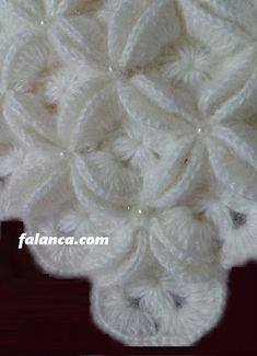Discover thousands of images about My DIY crochet pattern Diy Crochet Patterns, Baby Knitting Patterns, Crochet Motif, Crochet Designs, Puff Stitch Crochet, Easy Crochet, Pinterest Crochet, Baby Girl Crochet Blanket, White Shawl